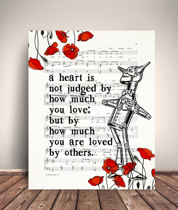 Superior Wizard Of Oz Tin Man Heart Quote If I Only Had A Heart Music