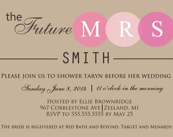 Printable Wedding Shower Invitation