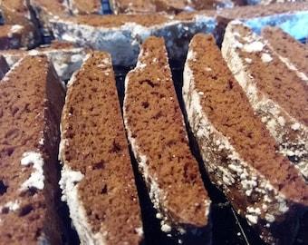Homemade Gingerbread Biscotti - 24 Cookies