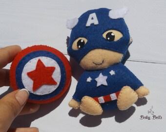 Captain America Toy, Marvel Gifts Kids, Superhero Nursery Decor, Superhero Room Decor, Felt Soft Superhero Toy, Superhero party