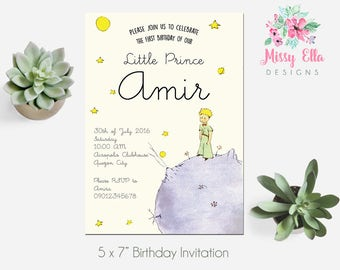 The Little Prince / Le Petit Prince Birthday Party Invitation // Printable Invitation // Baby Shower // Baptism // Digital File