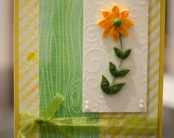 Handmade Greeting Card - Quilling