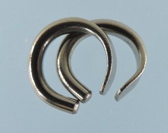 Niobium earrings: 10 gauge small open hoops - KISS9-10
