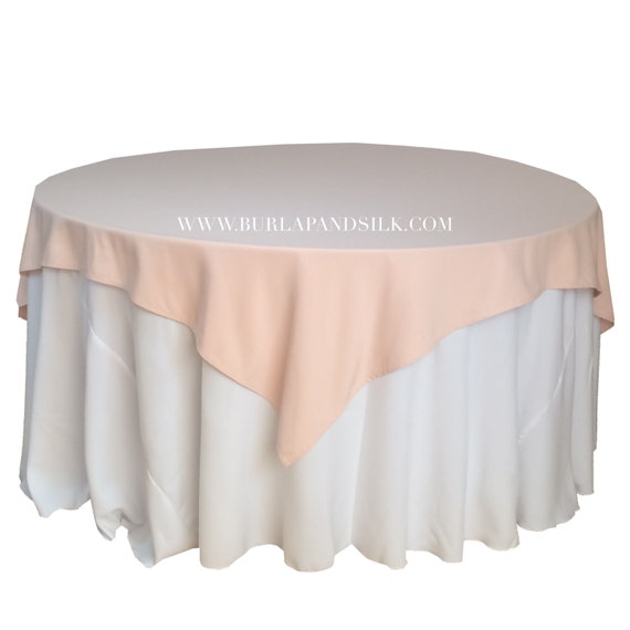 Blush Table Overlays 85 x 85 inches Table Overlays for 6 FT