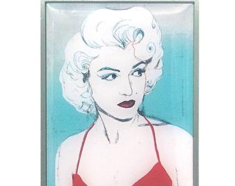 Blue Marilyn Lapel Pin