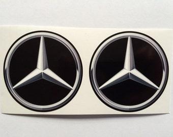 2 Mercedes Benz Decals