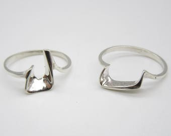 Arc Stacker doublets Sterling Silver