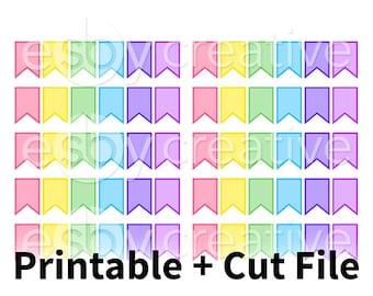 Rainbow Flags - Digital Files for Erin Condren, Happy Planner, Personal Planner Sticker Printable INSTANT DOWNLOAD - AL-015