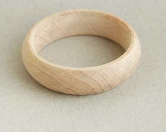 20 mm Wooden bracelet unfinished round - natural eco friendly GA20