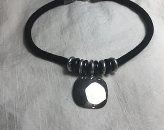 Vintage Black and Silver Rope Necklace