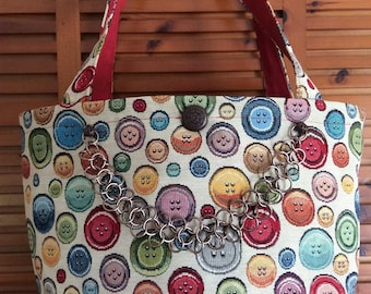 button Pocket tote bag