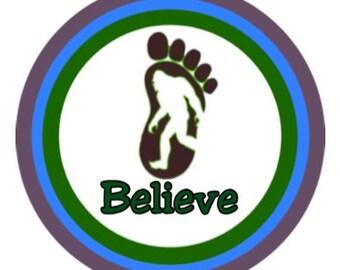 """Believe 3"""" Round Sticker"""