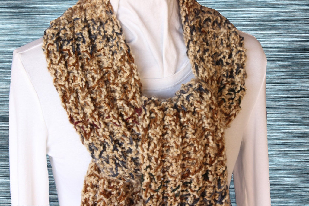 Chunky Knit Scarf Pattern, Knitted Scarf Patterns, Free Knitting ...