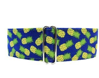 Pineapple Martingale Collar Greyhound, Pineapple Dog Collar, 1.5 Inch Martingale Collar, Pineapple Dog Collar, Summer Dog Collar, Greyhound