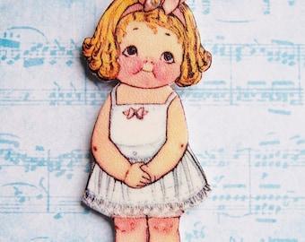 Dolly Dingle #3 Shrink Plastic Necklace