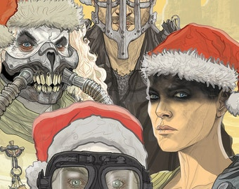 Mad Max Fury Road Holiday card