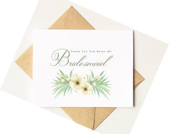 Thank You for Being My Bridesmaid Card | Thank You for Being My Maid of Honor Card | Bridal Party Cards | Pineapple Wedding Style #LGW2174