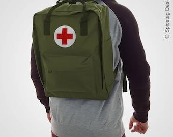 Spicetag First Aid Army City Daypack Urban backpack WW2 US Army Urban Rucksack Military Trend Bag Retro Fashion Accessory SS17