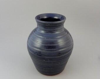 Pottery Vase - Terracotta Handmade Earthenware - Blue Centerpiece