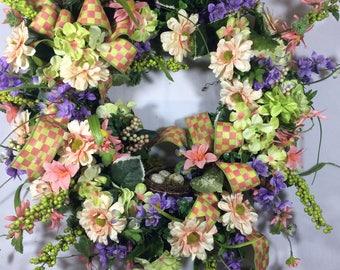 Easter Wreaths, Spring Wreath, Front Door Wreath, Spring Door Wreath, Easter Bunny Wreath, Wreath Easter, Everyday Wreath