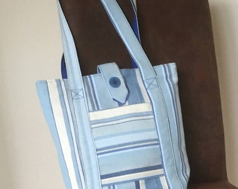 Tote bag, beach bag, shoulder bag, striped bag, everyday bag