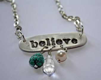 Inspiration necklace with charms