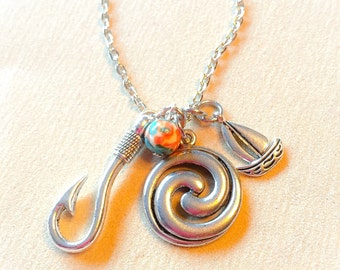 Moana, moana jewelry, moana inspired, disney inspired, disney charms, disney jewelry, disney, moana necklace, Moana navigation