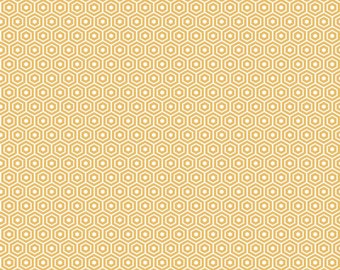 Found Hexagon Yellow by Riley Blake Designs - C3695-Yellow - Sold by the Yard