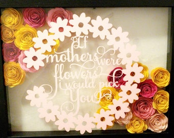 11x14 Flower Shadow Box