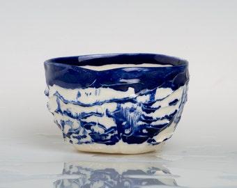 BLUNESCA - Porcelain bowl, unique, handmade, OOAK