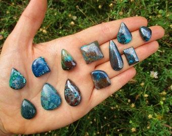 Custom Azurite Ring / Blue Azurite Statement Ring / Sterling Silver Ring / Large Azurite Ring / Silver Azurite Jewelry / Azurite Jewellery