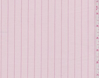 Pink Pinstripe Stretch Twill, Fabric By The Yard