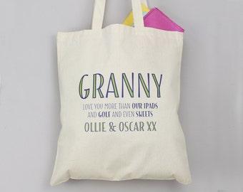 Tote Bag - Personalized Tote Bag - Custom Tote Bag - Personalized Bag - Grandmother Gift - Mother Gift - Mothers Day Gift - Custom Book Bag