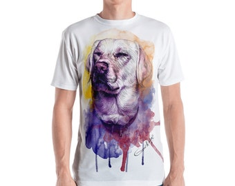Custom All-Over Printed T-Shirt, Portrait illustration, Custom T-shirt, Design Your Own Shirt, Custom Pet Painting, Custom T-Shirt