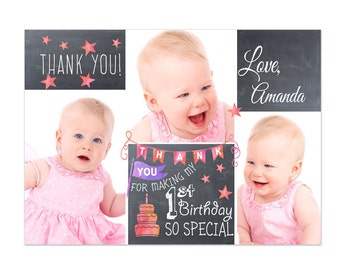 Birthday Thank You Card Photoshop Template 15004