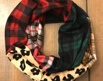 Mixed Flannels Infinity Scarf