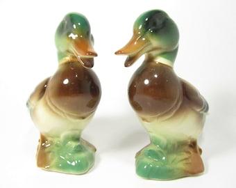 VIntage Ducks, Pair of Ceramic Ducks, Vintage Duck, Duck collectible