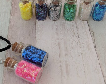 Kawaii necklace, kei jewelry, glitter necklace, jar necklace, kawaii jewelry, kei necklace, pendant necklace, gifts for her, gift for sister