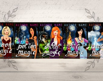 Urban Fantasy Series Premade eBook Cover- paranormal fantasy, urban fantasy, cover design, chic lit, series book covers, rom com, vector art