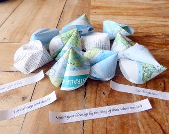 Paper Fortune Cookies - set of 10 Atlas