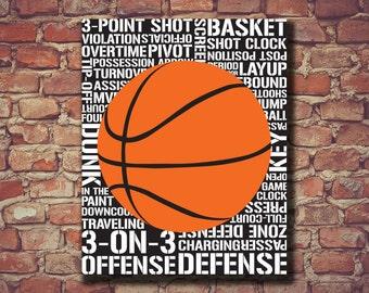 Basketball Print, Basketball Art, Basketball Decor, Sports Print, Sports Art, Nursery Art, Sports Decor, Boys Room, Playroom Art, Nursery