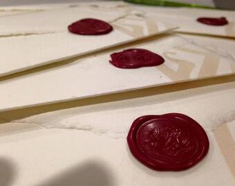 Partecipazioni e inviti ispirati al Signore degli Anelli in carta Amalfi