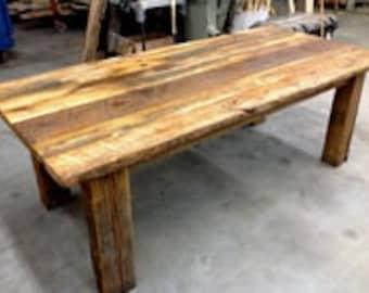 Do it yourself kit etsy diy kit barnwood dining table do it yourself reclaimed wood barn wood solutioingenieria Gallery