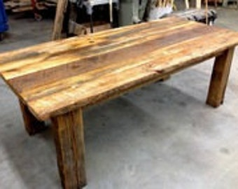 DIY Kit Barnwood Dining Table, Do It Yourself, Reclaimed Wood, Barn Wood