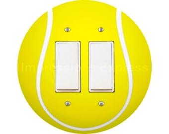 Tennis Ball Decora Double Rocker Switch Plate Cover
