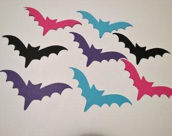 50 Small Bat Die Cuts - Paper Bats - Bat Decoration - Vampirina - Halloween Bats - Scrapbooking Bats -  - Bat DieCuts - Bat Die Cuts