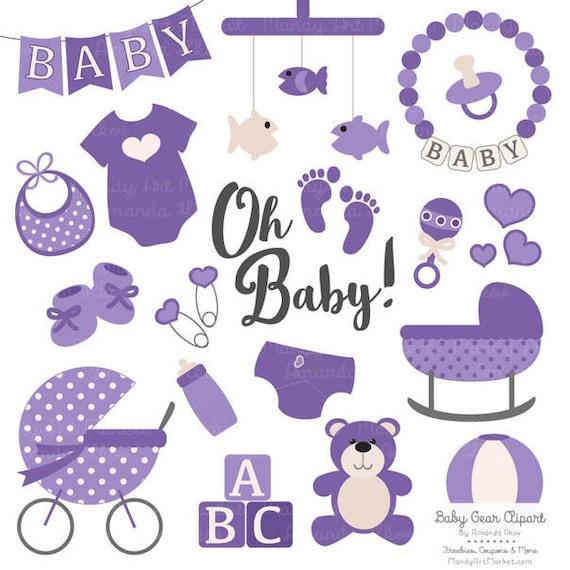 premium oh baby clipart vectors set in purple purple rh etsy com free baby stuff clipart baby boy stuff clipart