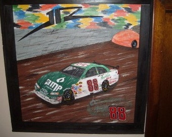 NASCAR Custom cars wood picture