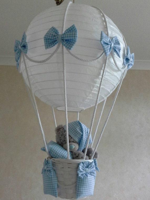 Hot air balloon nursery light shade with tatty teddy made te gusta este artculo aloadofball Images