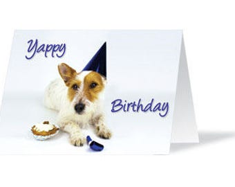 Happy birthday card jack russell card dog birthday card dog birthday card dog lover birthday card dog card jack russell bookmarktalkfo Image collections